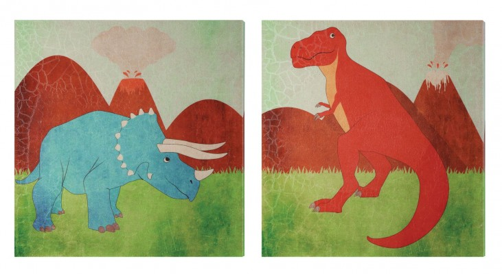 Dinotopia 2 Piece Wall Art