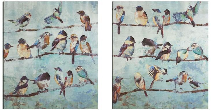 A Flock Of Early Bird Wall Art