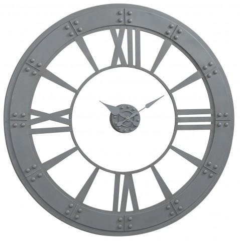 Gray Wall Clock