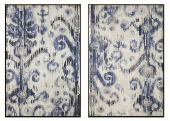 Blue and White 2 Piece Frame Wall Art