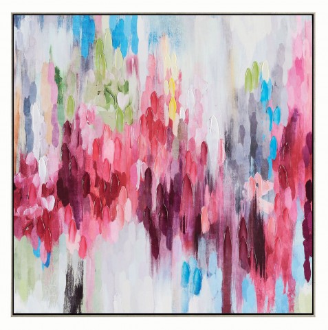 Pink and Blue Frame Wall Art