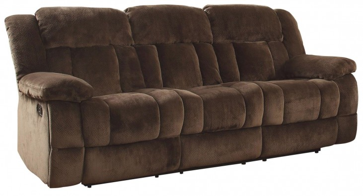Laurelton Chocolate Double Reclining Sofa