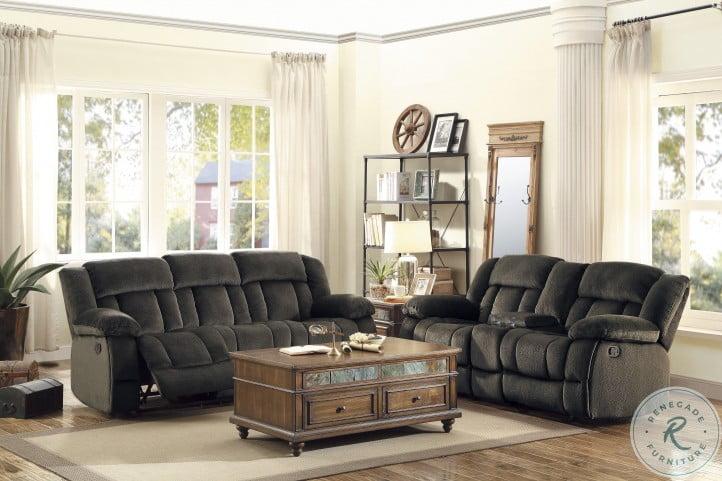 Laurelton Chocolate Double Reclining Living Room Set