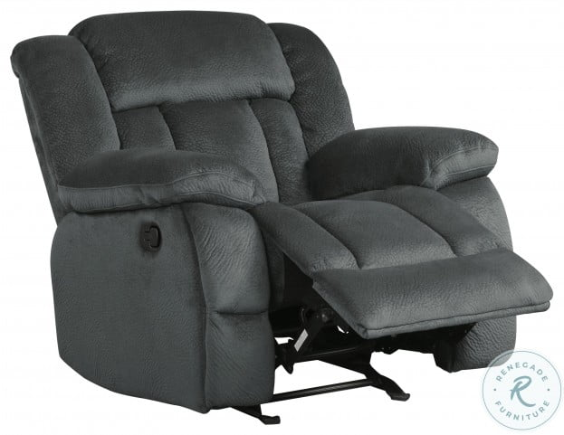 Laurelton Charcoal Glider Reclining Chair