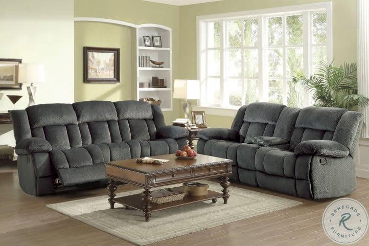 Laurelton Charcoal Double Reclining Living Room Set