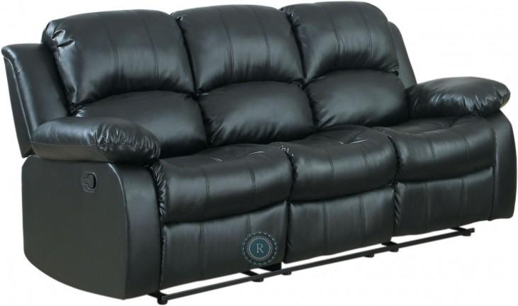 Cranley Black Power Double Reclining Sofa