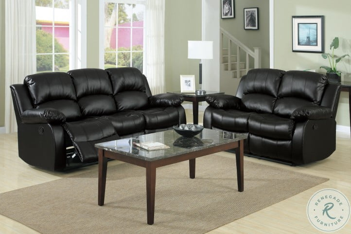 Cranley Black Double Reclining Living Room Set