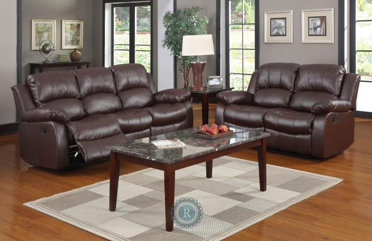 Cranley Brown Reclining Living Room Set