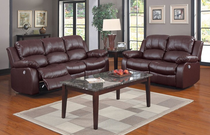 Cranley Brown Power Double Reclining Living Room Set