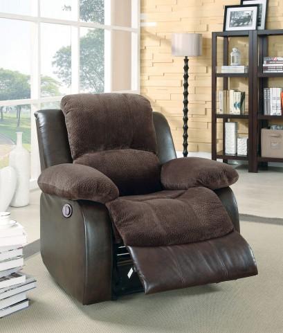 Cranley Dark Brown Power Reclining Chair