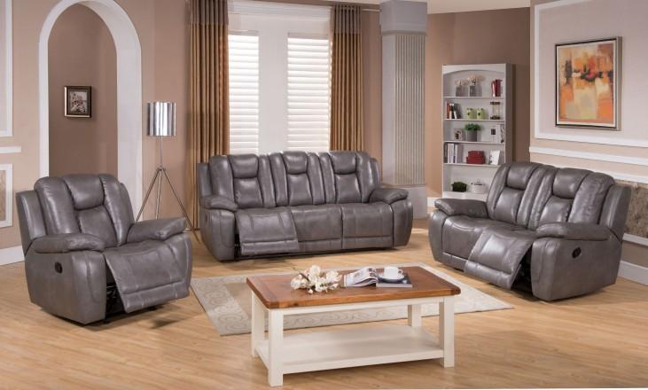 Austin Smoke Grey Reclining Living Room Set