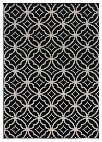 White and Black Large Rug
