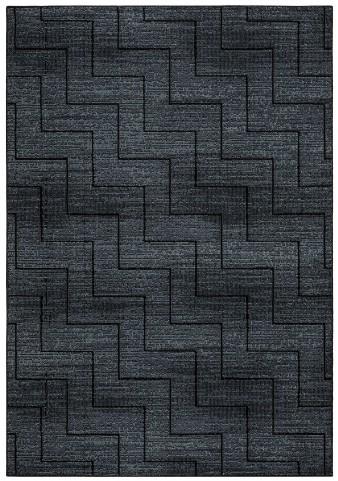 Gray and Black Millenium Plus Small Rug