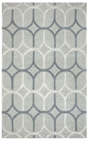 970186L Gray and White Hampton Large Rug