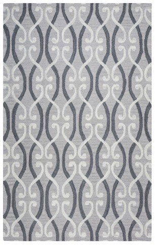 Gray and White Danberry Large Rug