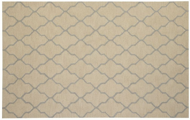 Beige and Gray Danberry Large Rug