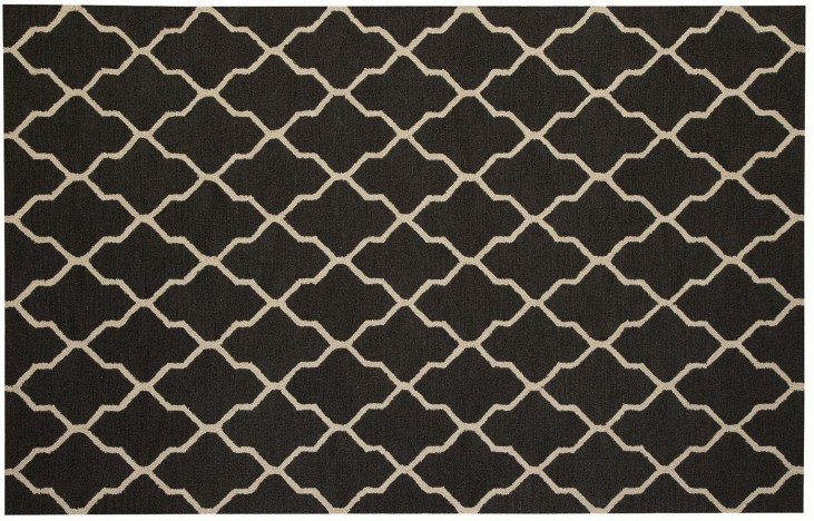 White and Black Danberry Large Rug