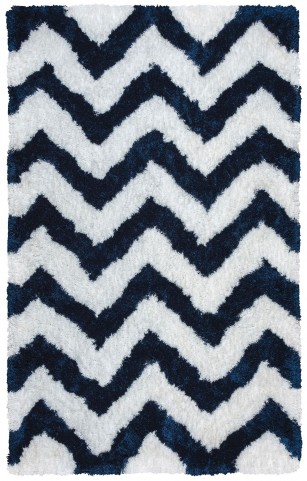 White and Blue Colorado Large Rug