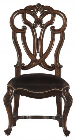 Costa Del Sol Dark Woodtone Messalinas Blessings Side Chair