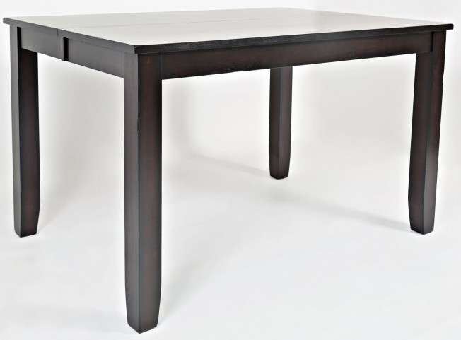 Dark Rustic Prairie Extendable Counter Height Dining Table