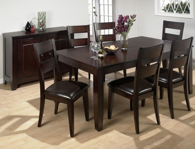 Dark Rustic Prairie Butterfly Leaf Extendable Dining Room Set