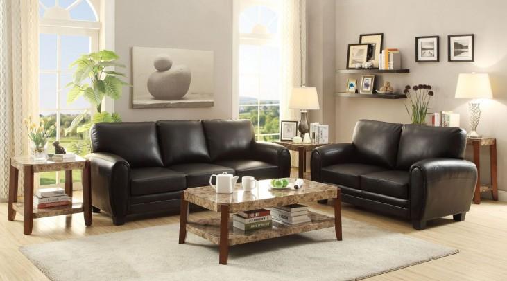 Rubin Black Living Room Set