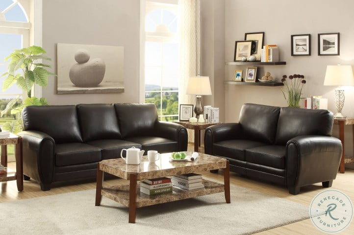 Rubin Black Living Room Set