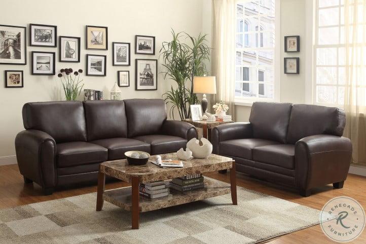 Rubin Dark Brown Sofa