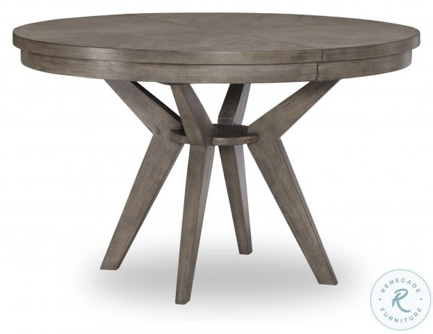 Greystone Ash Brown Extendable Pedestal Dining Table