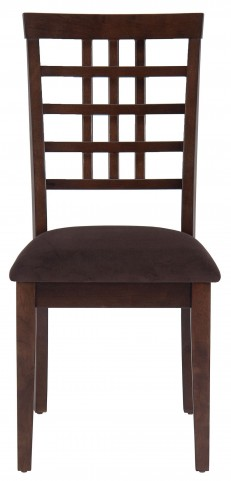 Caleb Brown Weave Back Dining Chair Set of 2
