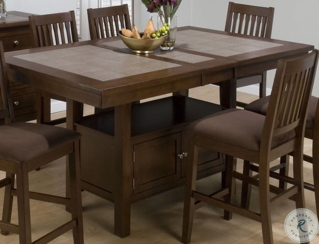 Caleb Brown Extendable Counter Height Dining Table