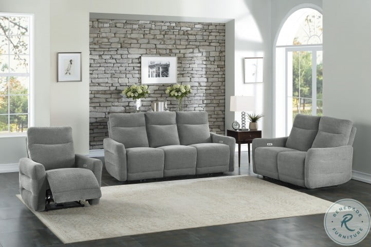Edition Gray Power Double Reclining Living Room Set