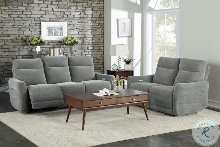 Edition Gray Power Double Reclining Sofa