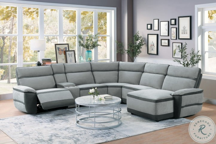 Hedera Gray Reclining RAF Sectional