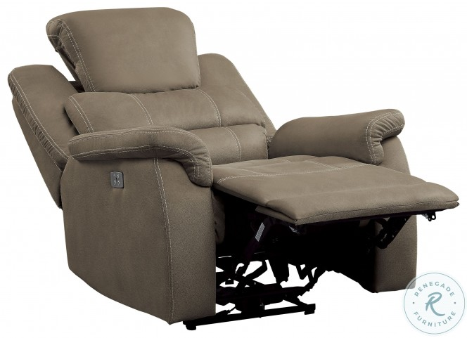 Shola Brown Power Reclining Chair With Power Headrest