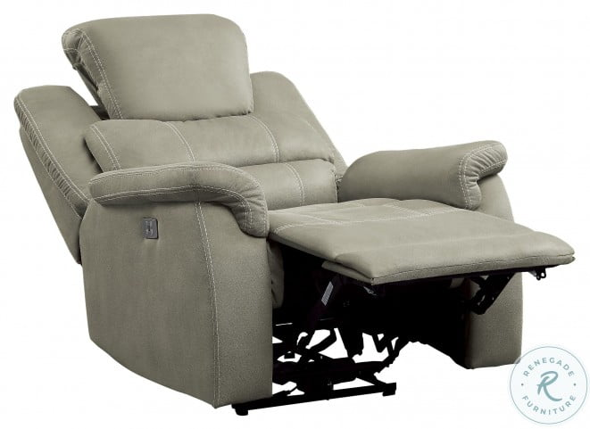 Shola Gray Power Reclining Chair With Power Headrest