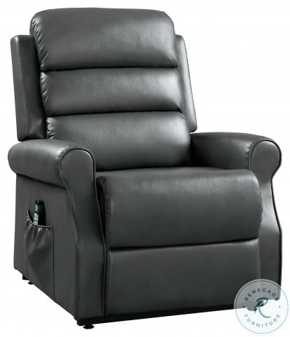 Jareth Gray Power Lift Chair With Massage And Heat