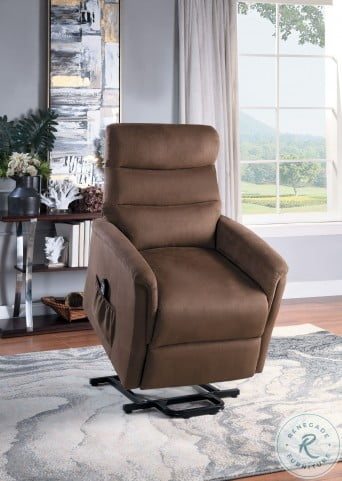Miralina Brown Power Lift Chair With Massage And Heat