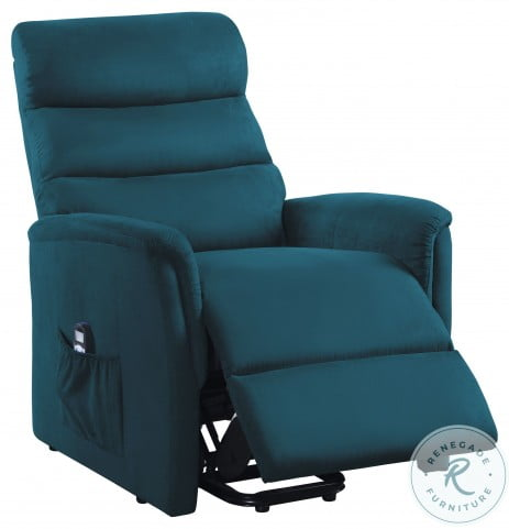 Miralina Blue Power Lift Chair With Massage And Heat