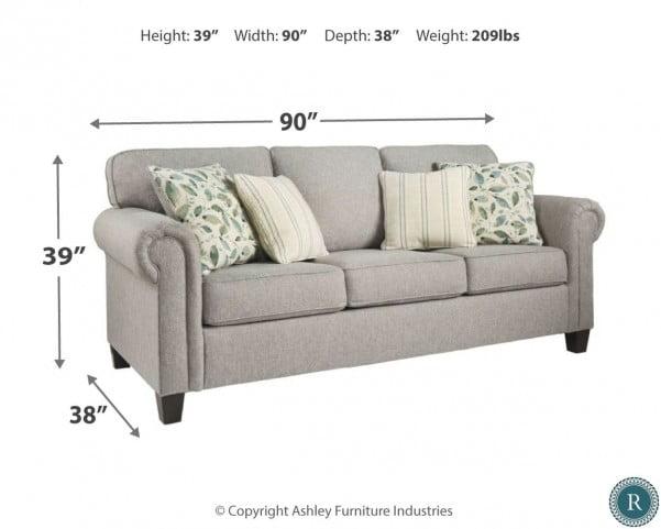 Alandari Gray Queen Sofa Sleeper