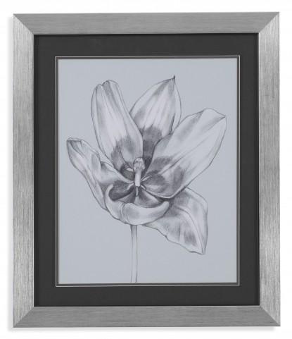 Silvery Blue Tulips II Wall Art