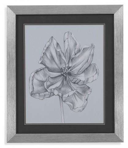 Silvery Blue Tulips IV Wall Art