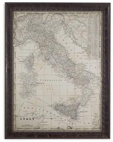 Antique Map of Italy Wall Art