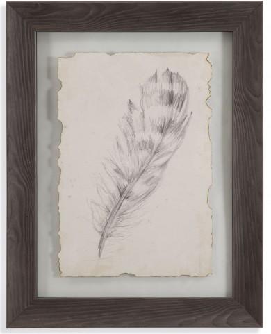 Feather Sketch II Wall Art