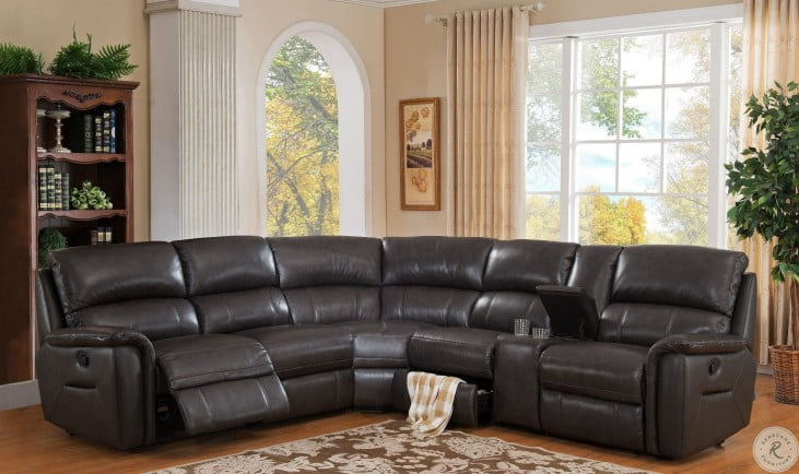 Camino Charcoal Grey Power Reclining Sectional