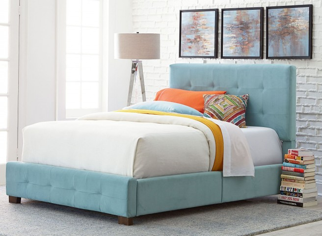 Madison Blue Twin Upholstered Bed