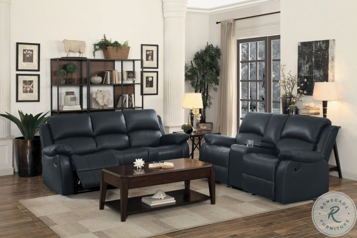 Clarkdale Black Double Reclining Living Room Set with Drop Down Table