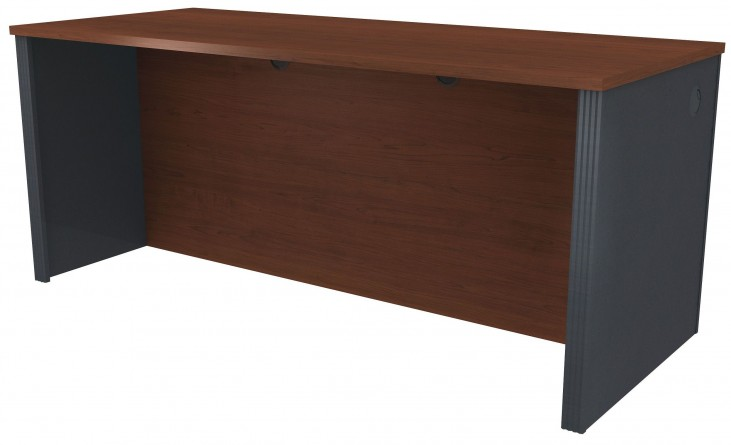 Prestige Plus Bordeaux & Graphite Executive Desk