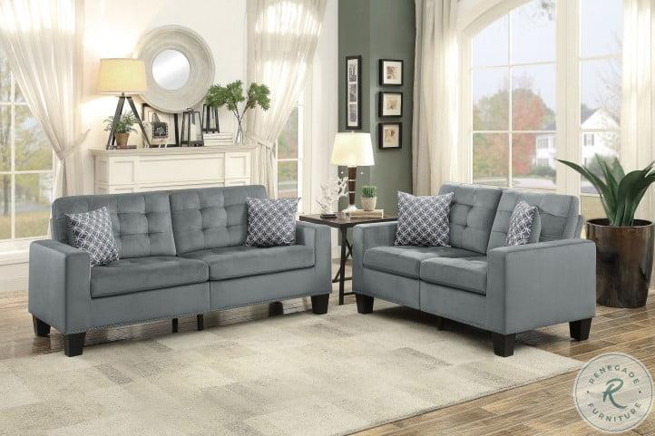 Lantana Gray Living Room Set