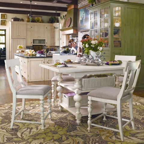 Paula Deen Home Linen Kitchen Square Extendable Gathering Dining Room Set